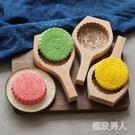 圓形梨木手工雕刻清明果月餅南瓜餅綠豆糕木質模具SMY7694【極致男人】