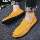 懶人鞋 鞋男潮鞋夏季新品休閒鞋一腳蹬軟底男鞋老北京布鞋 【快速出貨】
