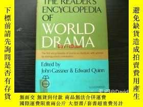 二手書博民逛書店The罕見reader's encyclopedia of world drama <A Crowell