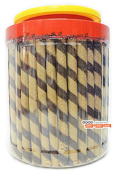 【吉嘉食品】哦吉-巧克力捲心酥(罐) 1罐700公克95元,另售哦吉-草莓捲心酥{3188-1}[#1]