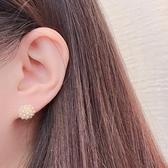 韓國直飛-迷你小珍珠小金球耳環-銀針-Silver-耳針-042807-pipima