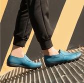 水鞋 廚房水鞋男夏季低幫時尚短筒雨鞋休閒防滑工作雨靴男洗車防水膠鞋 暖心生活館