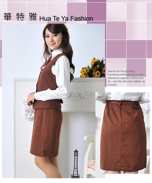 【大尺碼HV-51E-A】華特雅-簡約時尚OL素色女直筒裙子(咖啡)