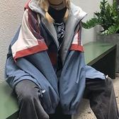 衝鋒衣 兩面穿外套女春秋2021新款韓版寬鬆沖鋒衣女薄款百搭日系bf風上衣