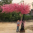 仿真桃花樹假桃樹大型植物 仿真櫻花樹仿真梅花樹許愿樹桃花裝飾 NMS 樂活生活館