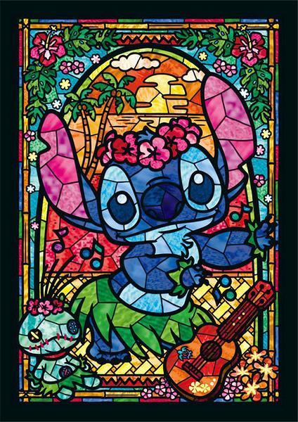 彩繪玻璃-史迪奇  /266P/Tenyo/星際寶貝/迪士尼/迷你/透明塑膠/日本進口拼圖