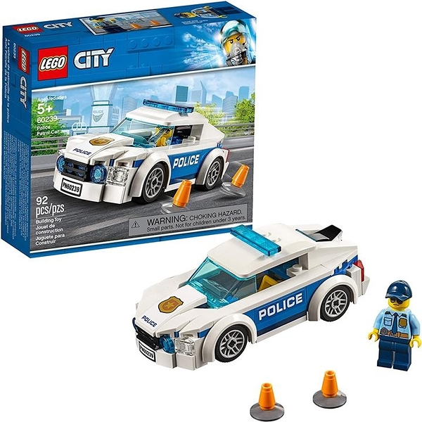 LEGO 樂高 市警察巡邏車60239 (92件)