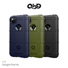 【愛瘋潮】QinD Google Pixel 4a 戰術護盾保護套 背蓋式 手機殼 鏡頭加高 軟殼 保護殼 保護套