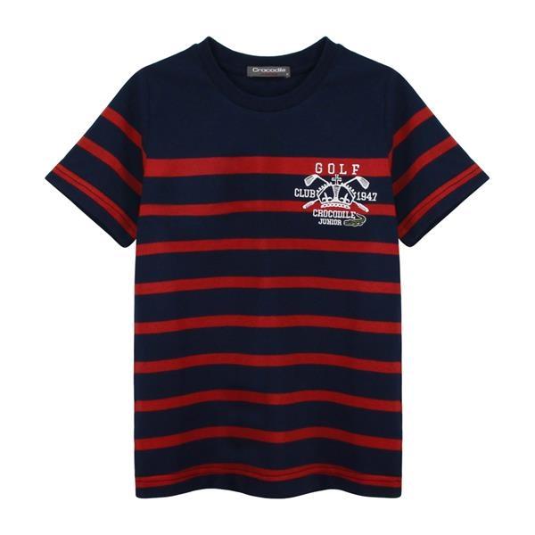 『小鱷魚童裝』高爾夫條紋T恤(08號~20號)533403
