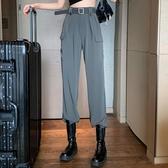 高腰褲秋季2020新款高腰垂感休閒褲顯瘦束腳褲工裝褲女夏季寬鬆薄款褲子 雙11 伊蘿