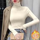 長袖打底衫 寬松T恤純色高領修身顯瘦長袖打底衫女H5F-500.依品國際