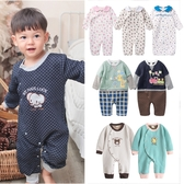 空氣棉 連身衣 男寶寶 女寶寶 前開扣 爬服 哈衣 Augelute 35252