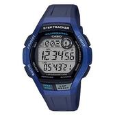【CASIO】 新潮流計步器運動電子男錶-金屬藍(WS-2000H-2A)