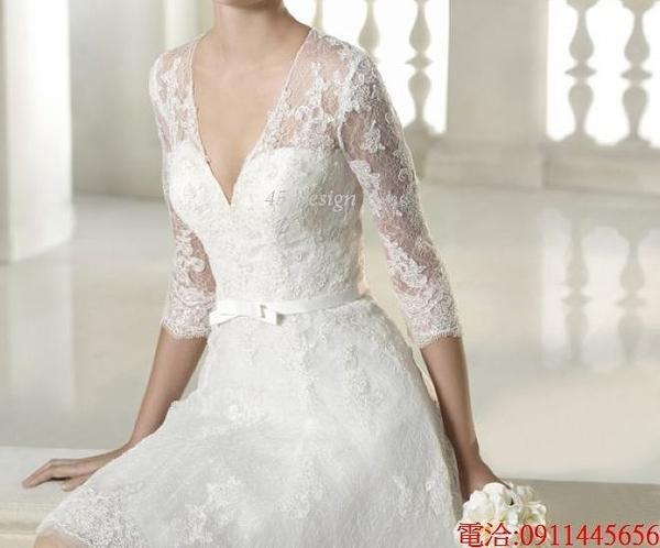 (45 Design)  7天到貨 禮服婚紗晚禮服短款晚宴年會 結婚小禮服短裙 大小顏色款式都能訂製27