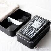 雙層帶蓋便當盒 分格壽司盒微波爐餐盒學生飯盒保鮮盒      瑪奇哈朵