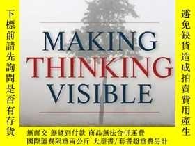 二手書博民逛書店英文原版罕見哈佛大學教育學院思維訓練課 Making Thinking Visible: How To Promo
