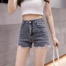 牛仔短褲 牛仔短褲女2021年新款毛邊高腰顯瘦夏季薄款a字熱褲破洞修身ins潮 韓國時尚 618