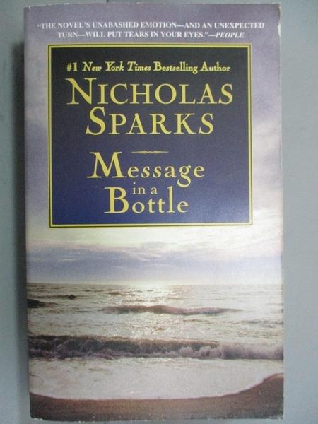 【書寶二手書T8/原文小說_GFO】MESSAGE IN A BOTTLE_Sparks, Nicholas