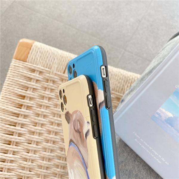iPhone11ProMax 蘋果手機殼 可掛繩 可愛柯基大屁股 矽膠軟殼 iX/i8/i7/SE