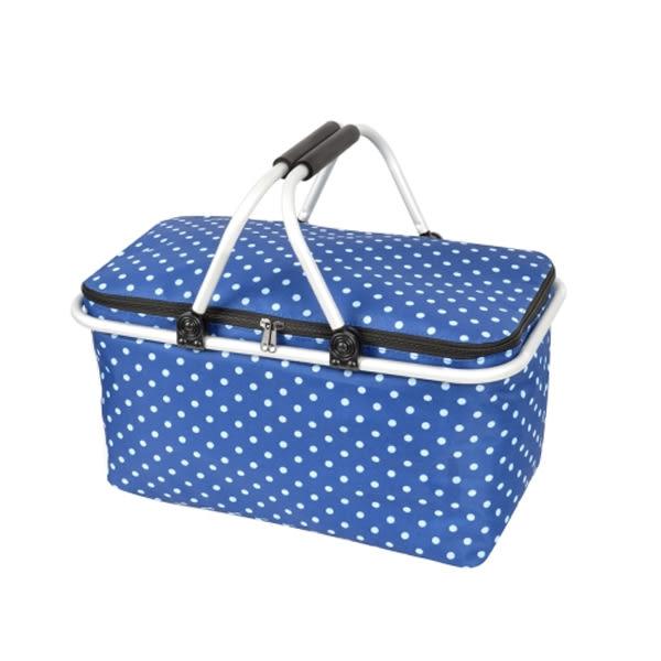 限時促銷↘【LIFECODE】《點點風》鋁合金折疊保冰袋/野餐提籃-藍色14410075