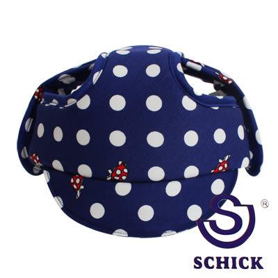 里和Riho SCHICK輕柔嬰幼兒安全防撞防護帽/學步帽(圓點藍) 適用於6~20個月 台灣製造