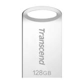 新風尚潮流 【TS128GJF710S】 創見 JF710 128GB USB 3.1 霧面銀 金屬外殼 短版 隨身碟
