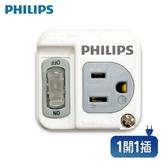 Philips SPB1411W/96 1開1插壁插 白色