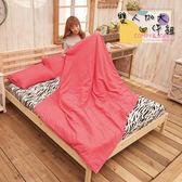 床包/ 雙人加大床包被套四件組.獨家春夏新品.超柔雲絲絨-簡約-玫瑰桃紅 / 伊柔寢飾
