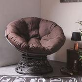 舒適旋轉式星球椅(深咖啡色)-生活工場