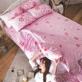 床包 / 雙人加大【翩翩飛舞】含兩件枕套  AP-60支精梳棉  戀家小舖台灣製AAS301