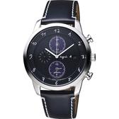 agnes b. 法國巴黎限定計時腕錶-黑/40mm V172-0AZ0C(BY6004P1)