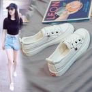 春季新款透氣爆款小白女鞋夏季學生休閒白鞋韓版百搭板鞋 夢幻衣都