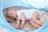 嬰兒蚊帳罩寶寶蒙古包免安裝可折疊支架有底嬰童床蚊帳罩0-3歲【卡米優品】