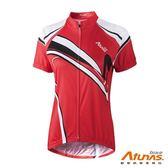 《Atunas 歐都納 Bike》B13044W 女短袖全彩車衣 紅