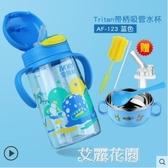 吸管杯兒童水壺防摔寶寶喝水杯子帶吸管小孩外出攜帶飲水杯『艾麗花園』