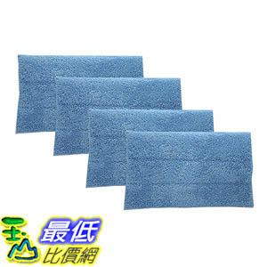 [106美國直購] 4 Highly Durable Washable Microfiber Steam Pads for HAAN Steam Mops & Floor Sanitizer RMF2, RMF2P, RMF2X