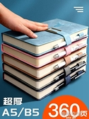 貓客加厚皮面本筆記本子簡約大學生用商務記事本日記本A5/B5記錄工作本