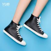 雨鞋休閒雨鞋中筒時尚女士雨靴防滑膠鞋短筒水靴水鞋都市情侶雨鞋女 雲雨尚品