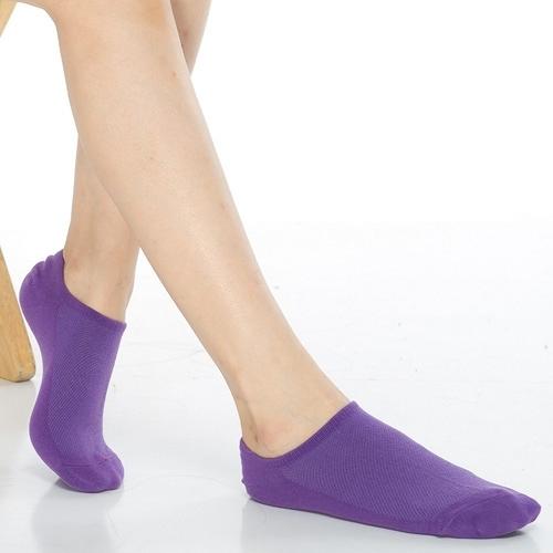 【南紡購物中心】【KEROPPA】可諾帕網狀造型女船襪x4雙C97001紫色