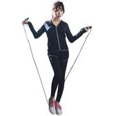 夏季瑜伽服2018新款寬鬆健身服女專業跑步速干衣健身房運動套裝女