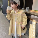 女童外套秋裝童裝兒童韓版風衣中小童女寶寶時髦洋氣大衣【聚可愛】