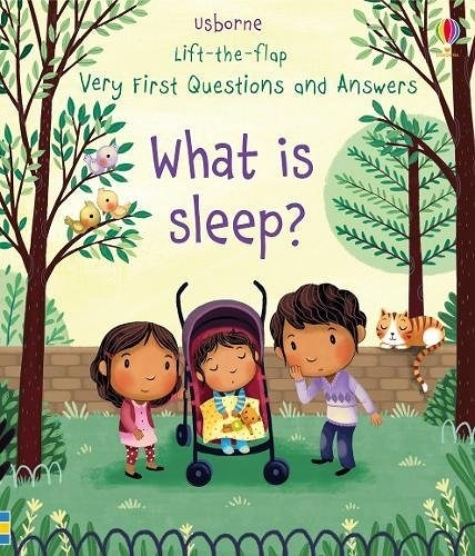 【關於細菌.幼兒科普書】WHAT IS SLEEP ? /VERY FIRST QUESTIONS AND ANSWERS /硬頁翻翻書