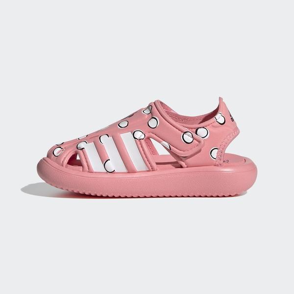 Adidas Water Sandal I [FY8941] 小童鞋 運動 休閒 舒適 涼鞋 防滑 魔鬼氈 粉紅 白