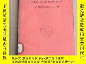 二手書博民逛書店relation罕見of properties to microstructure(P3222)Y173412