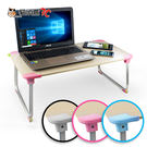【貓頭鷹3C】XL加大版 輕量多功能折疊NB電腦桌(LY-NB23)-木紋藍/木紋粉/木紋白[LY-NB23]