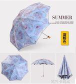 太陽傘防曬防紫外線雨傘森系女神晴雨兩用超輕小清新韓版蕾絲花邊QM 依凡卡時尚