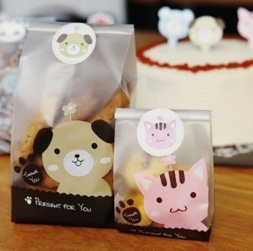 【發現。好貨】「優惠買一送一」韓國小貓小狗小熊動物封口貼紙 圓形可愛烘焙貼紙 禮物貼 12枚