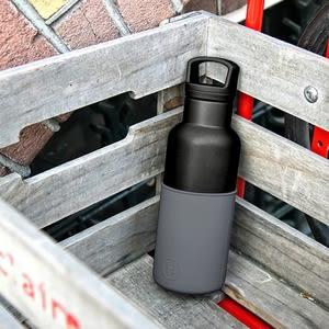 【HYDY】時尚保溫瓶 鐵灰-黑瓶 (480ml)