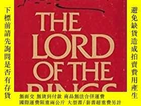 二手書博民逛書店【國內罕見版本】《指環王》第二版罕見一盒三冊全 Lord Of