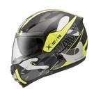 【東門城】ZEUS ZS3300 GG25(消光黑黃) 可掀式安全帽 雙鏡片